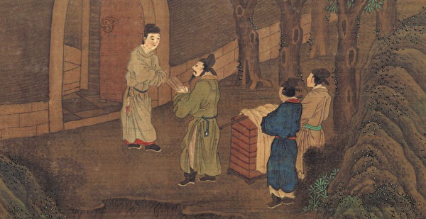 漢武帝時期,有才能的吏民可以上書自薦,向朝廷陳述自己的政治主張,這叫作「北闕上書」或「公車上書」。圖為元趙雍《先賢圖卷》局部。(公有領域)