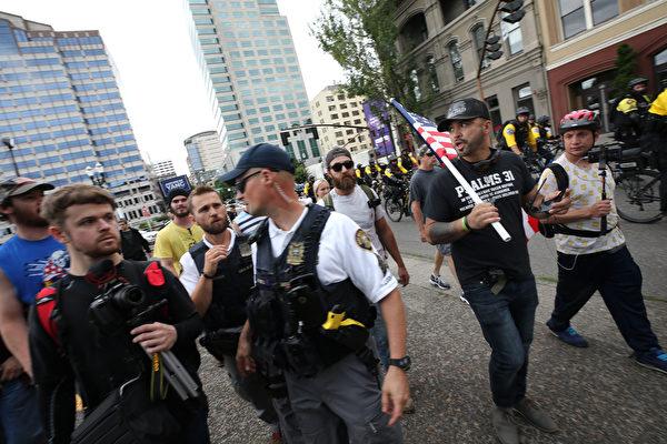 波特兰右翼集会爆发冲突 至少13人被捕