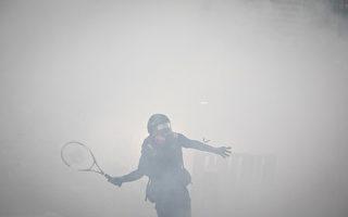 港抗议者以球拍回击催泪弹 获赞高手在民间