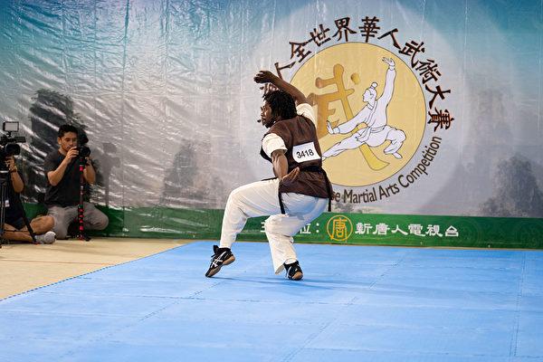 8月25日,李茂虎在南方拳術組決賽中脫穎而出,奪得該組別的銀獎。 (戴兵/大紀元)