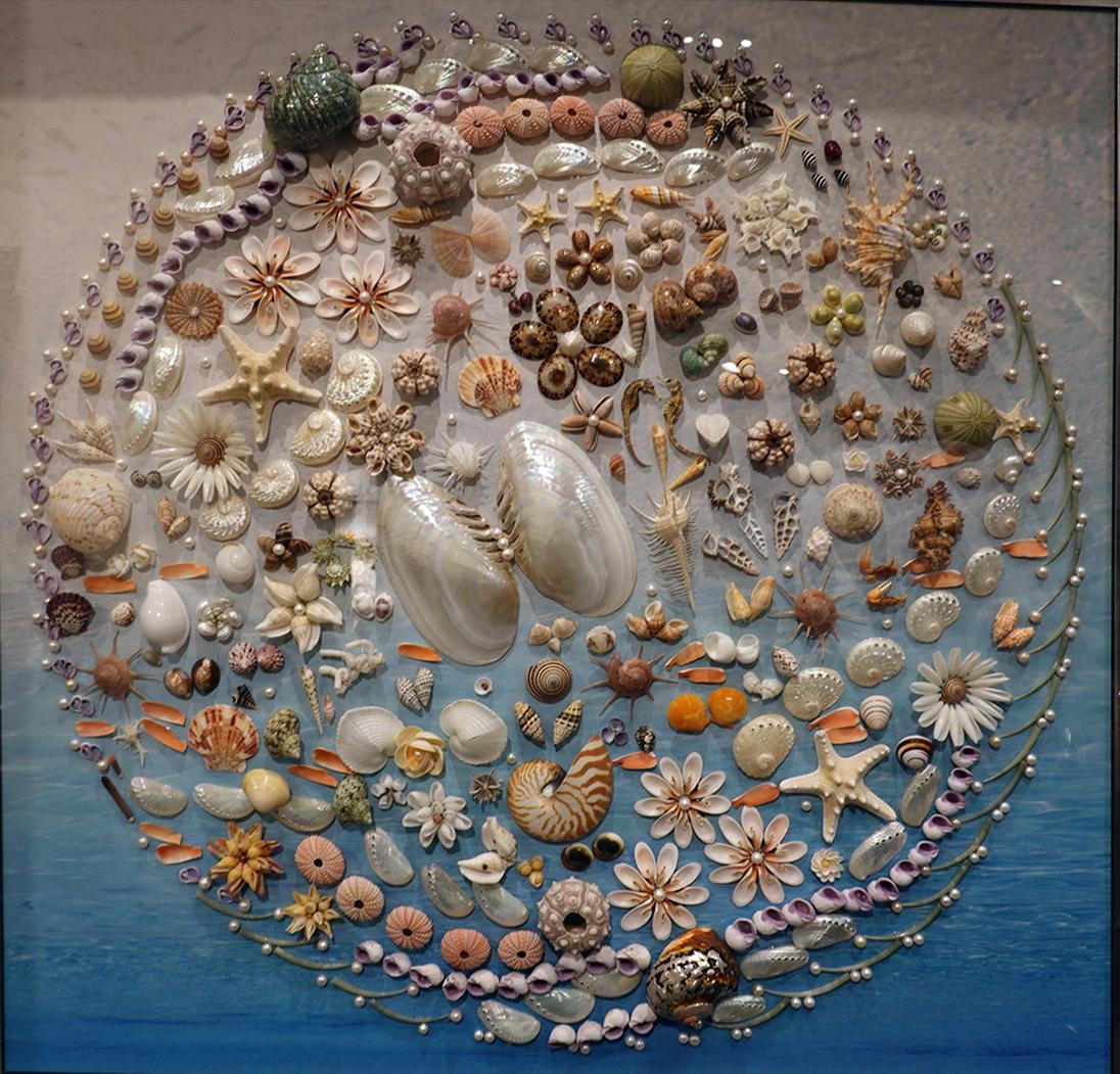圖:「陳品諠之貝殼寶石畫作展覽 」即將在「台加藝廊」展出,從9月1日至12日 。(臺加文化中心提供)