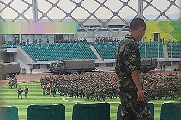 中共武警集結 台立委籲習近平「別犯致命錯誤」