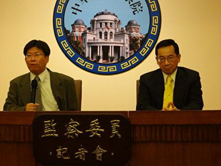 監察委員張武修(右)、高涌誠(左)