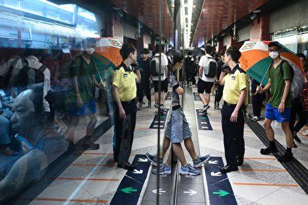 圖為罷工當日的火車站。