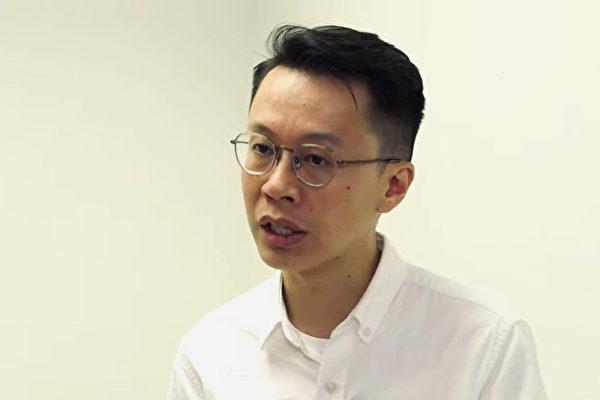 黄任匡医师讲解催泪弹和过期催泪弹的危害,也谈到医者在急救伤患时受到的阻碍。(香港大纪元)