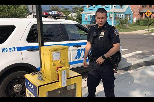 纽约大纪元报箱遭纵火破坏 警方立案调查