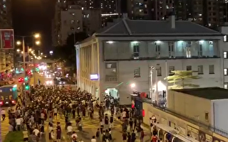 浸大學生會長被捕 千人包圍警署抗議