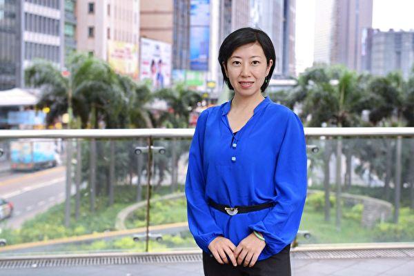 香港大纪元/新唐人的采访主任梁珍( / 大紀元)