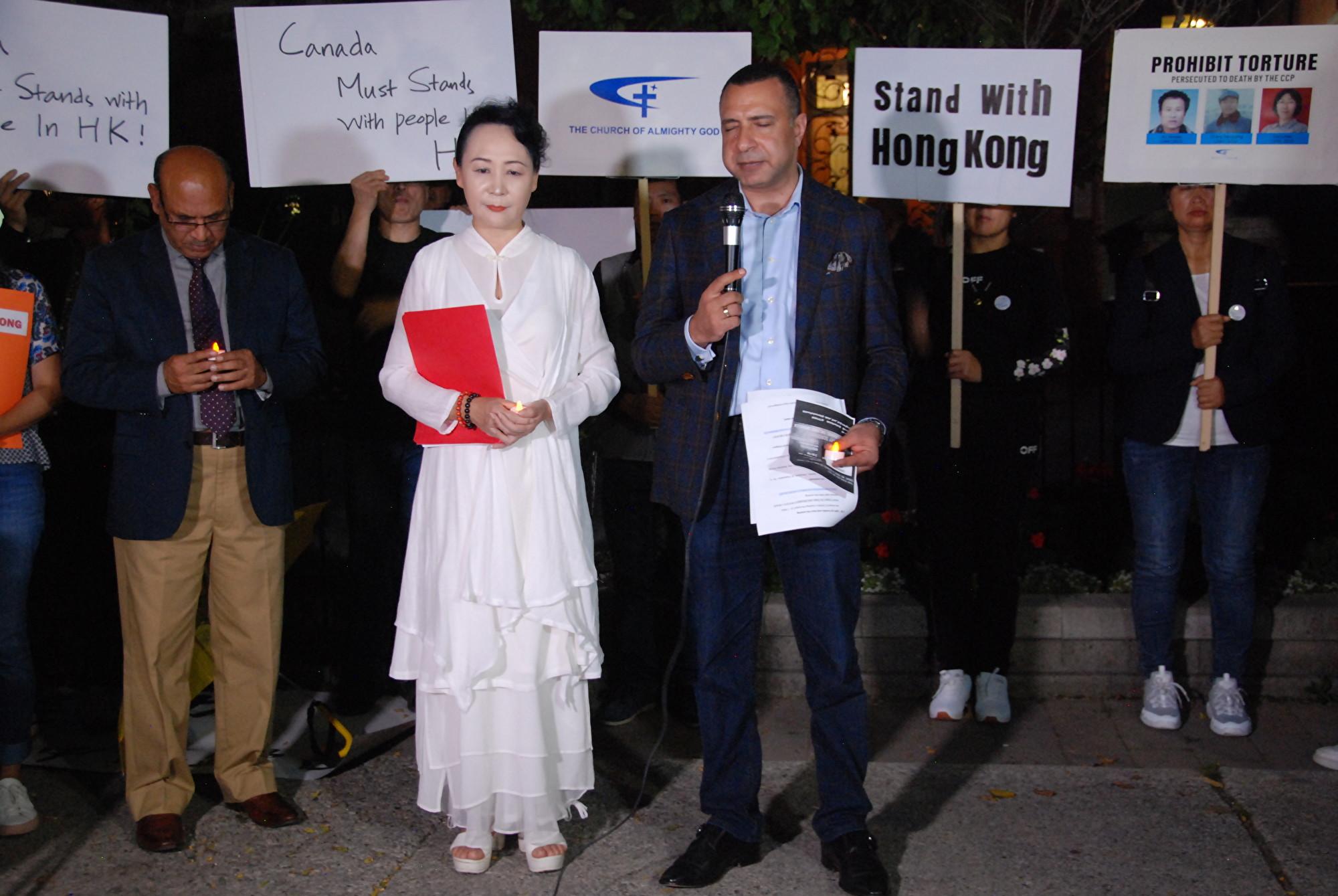 組圖:多倫多10團體燭光祈禱會撐香港