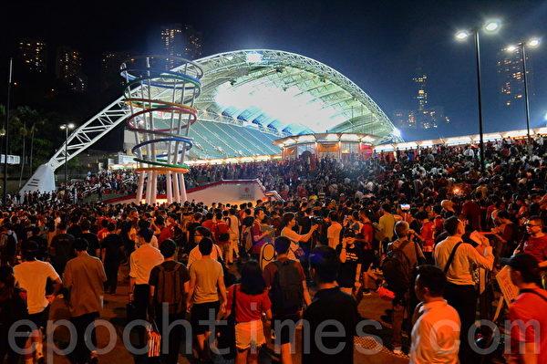 【世界杯外围赛】大球场球迷 高叫口号及唱歌