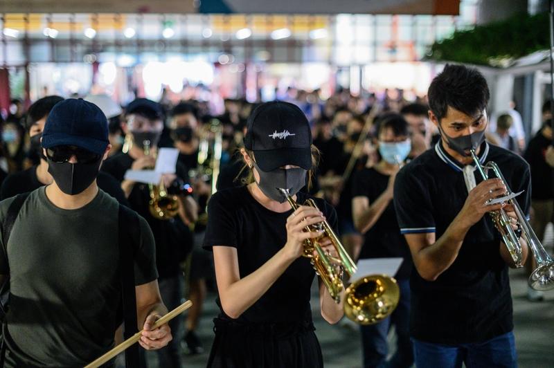 組圖:9.18九龍塘快閃音樂會 表演反送中歌曲