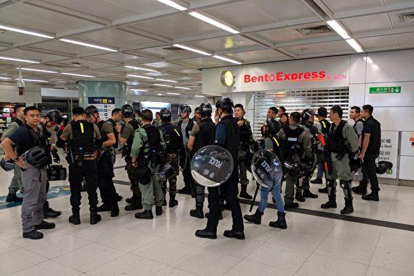 【直播回放】9.22傍晚港鐵站關閉 警不斷抓人