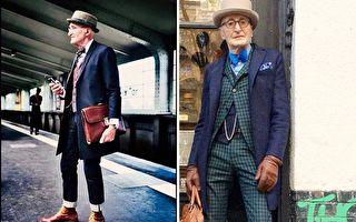 """老爷爷""""地铁街拍""""爆红 时尚优雅是他的生活日常"""