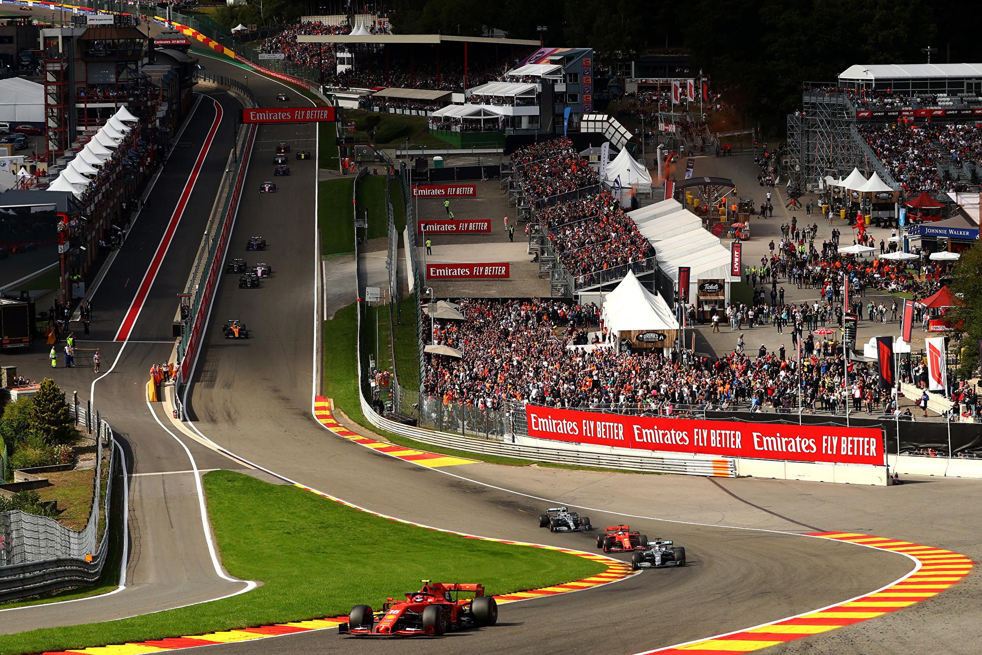 F1比利时站:法拉利获突破 勒克莱尔夺首冠