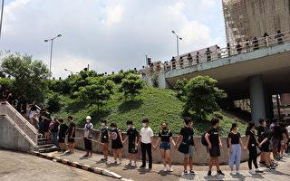 """香港两所大学连结""""人链""""几公里 场面震撼"""