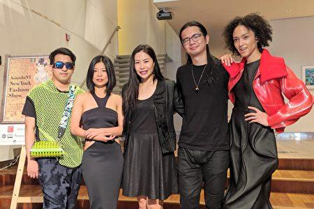 图为AsianInNY创办人李孟璇与旅美台湾服装设计师、模特儿俪玛·摩娜(Naima Mora)合影。