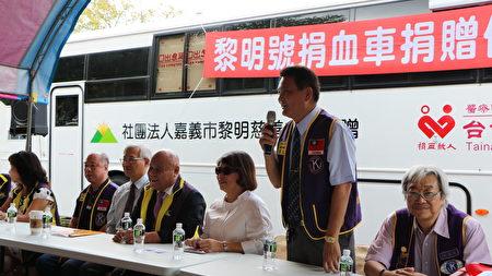 國際同濟會會長李仁榮為活動做引言,生花妙語,好語如珠,為活動帶來活潑的氣氛。
