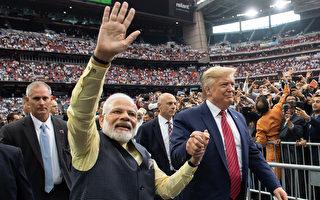 川普在休斯頓出席歡迎印度總理莫迪集會