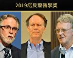 2019年诺贝尔医学奖三位得主发现了细胞如何感测和应对氧气浓度变化。图为Gregg L. Semenza(左)、William G. Kaelin Jr(中)、Sir Peter J. Ratcliffe(右)。(Getty Image、Wikimedia Commons/大纪元制图)