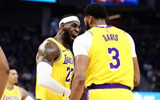 NBA季前赛,湖人客场大胜勇士