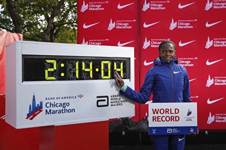 肯尼亞名將破塵封16年女子馬拉松世界紀錄