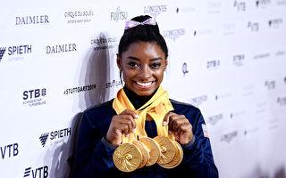 世界體操錦標賽 美國女將拜爾斯獨攬五金