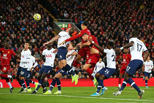 英超第10轮,利物浦主场2:1逆转热刺