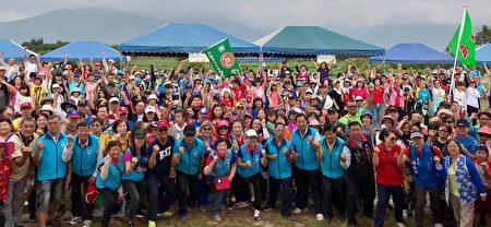 吉安鄉健行慶祝雙十國慶。