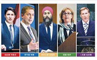 加拿大2019联邦大选 主要政党政策比较