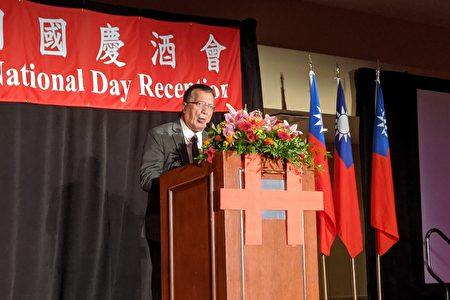 馬紹爾群島外交部長席克(John Silk)致詞。