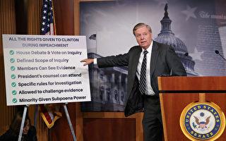 格雷厄姆参院提案 强烈谴责对川普弹劾调查