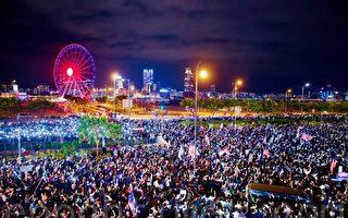 数万人集会感谢美国声援港民主