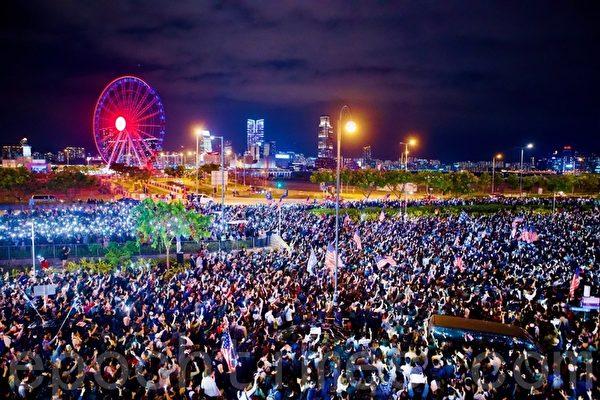 川普成香港英雄 港人感恩节集会感谢美国