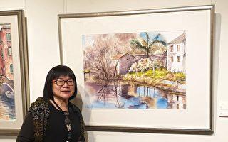 竹市知名藝術家陳素真 西畫薪傳展文化局展出