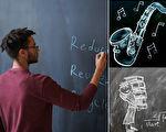 老師畫7.5小時的黑板畫送畢業生 學生超感動