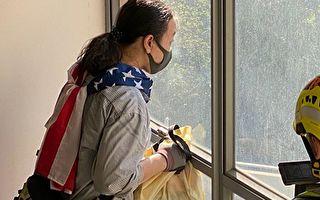 美国国旗与任剑挥:理大留守厨师的故事