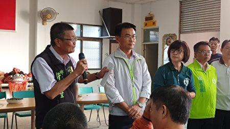 農委會主委陳仲吉21日下鄉雲林了解保價收購情形