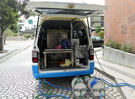 富宇慈善事业基金会赞助85万元装修费,把沐浴车的燃料改为煤油,让沐浴服务的工作顺畅许多。