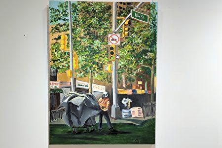 作品中描繪出華埠長者們拾荒的生活點滴。