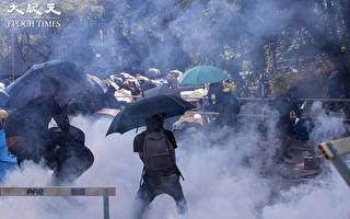 警察再乱香港多所大学 还强拉理大校董殴打