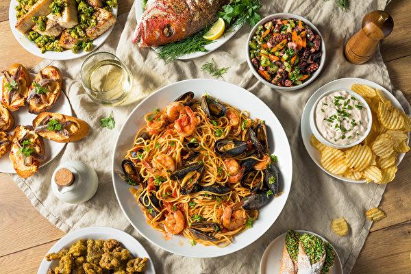 意大利人的聖誕盛宴「七魚宴」。 (Shutterstock)