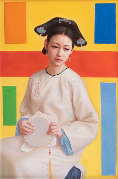 Apelles Zhou创作的《异次元空间少女》。