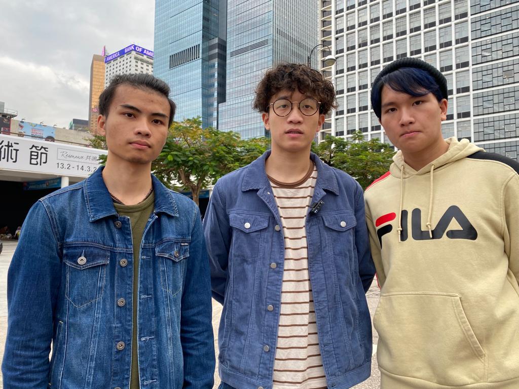 """香港青年乐团""""BOYZ REBORN""""成员Janson、Ben、Kelvin(从左至右)(骆亚 / 大纪元)"""