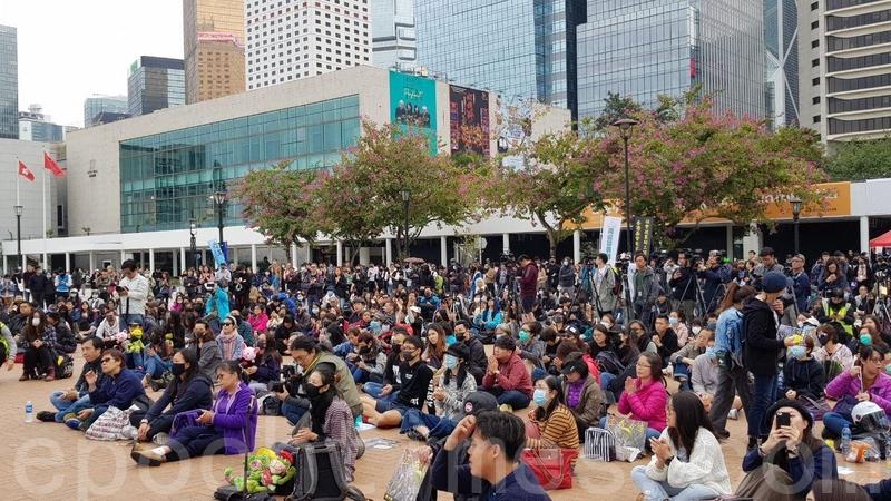 組圖:撐年輕人 香港社福界罷工造勢集會