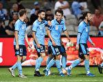 澳洲A联赛第9轮,悉尼队以5:1大胜布里斯班狮吼队