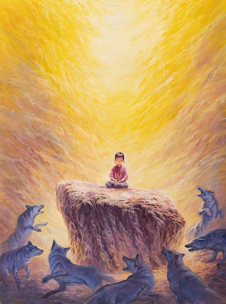 越南画家Loc Duong创作的《一个不动制万动》。