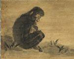 宋 易元吉 子母猴 軸(台北 故宮博物院提供)