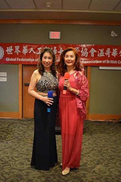 圖:世華工商婦女會溫哥華分會舉辦聖誕節舞餐會,姐妹們不僅熱情好客,更展露各自的歌舞才華,贏得讚賞與掌聲。(邱晨/大紀元)