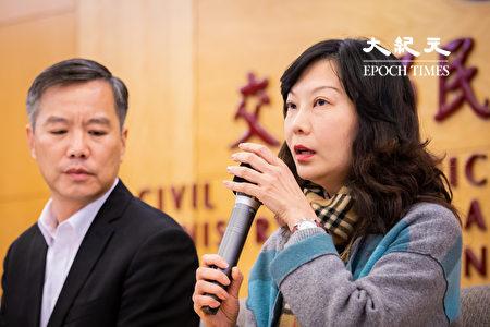 远东航空无预警宣布13日起停止一切营运,远航副总经理黄育祺(左)、发言人卢纪融(右)12日召开记者会说明。