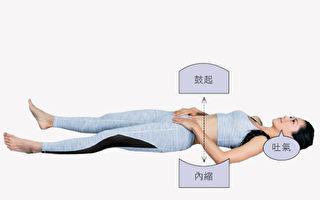 坚持做筋膜放松操+腹式呼吸可以改善腰痛,增强腹肌。(幸福文化提供)